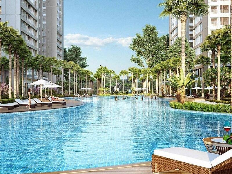 Bể bơi tại chung cư An Bình City