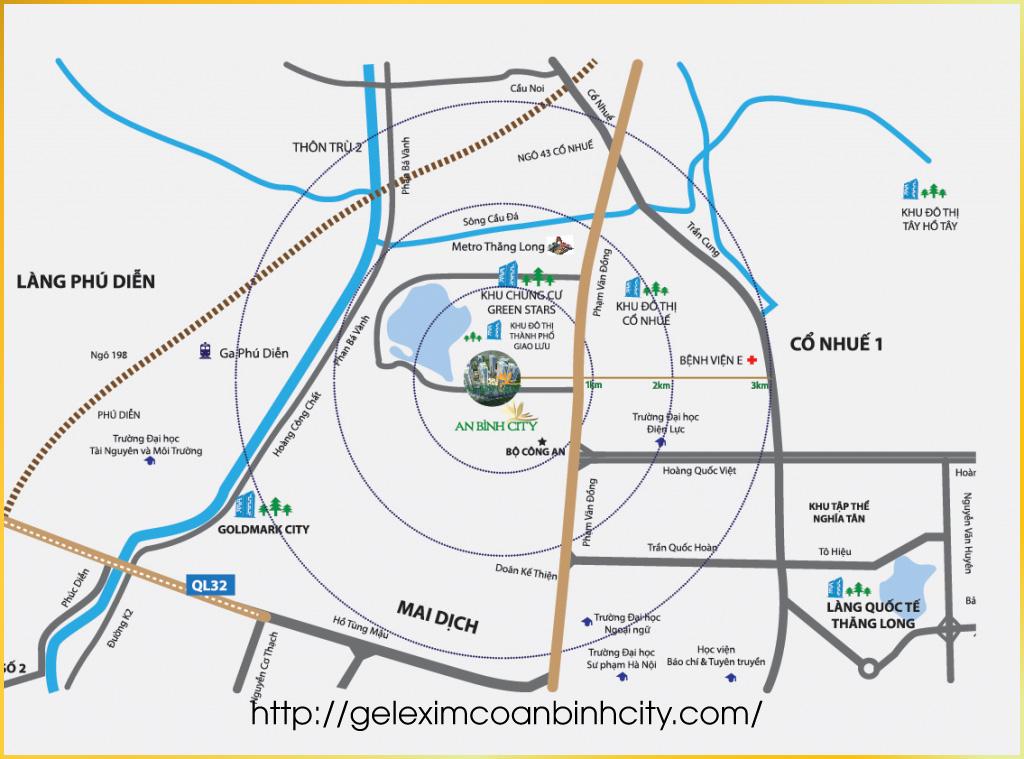 Vị trí dự án chung cư An Bình City