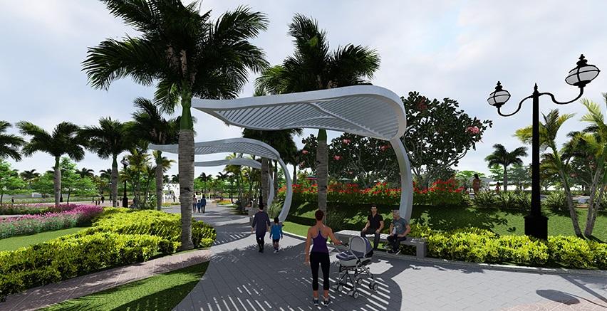 Không gian xanh tai chung cư An Bình City