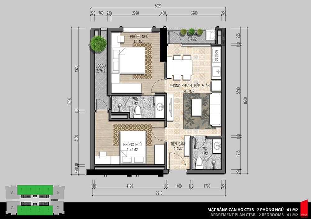 Thiết kế căn hộ Iris Garden